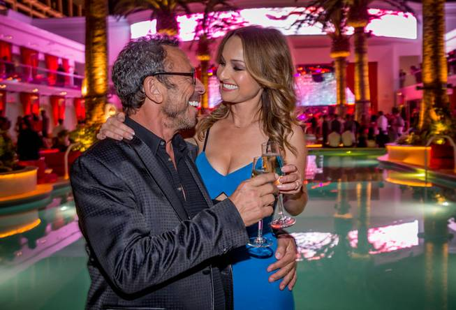 ERIK KABIK / RETNA / ERIKKABIK.COM Victor Drai and Giada De Laurentiis attend Drai's Beach Club and Nightclub opening night Friday, May 23, 2014, atop the Cromwell in Las Vegas.