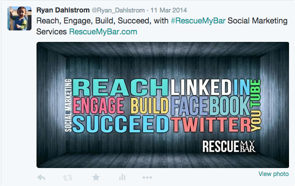 Ryan Dahlstrom's Twitter Rescue My Bar Marketing