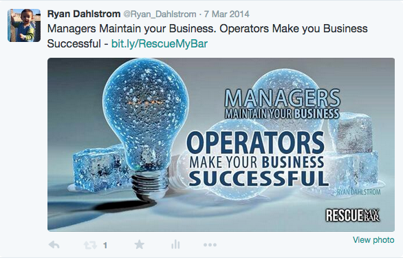 Ryan Dahlstrom's Twitter Managers Maintain Operators Succeed